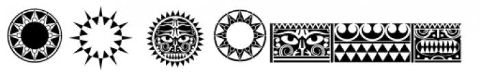 Maori New Zeeland Graphics Font LOWERCASE