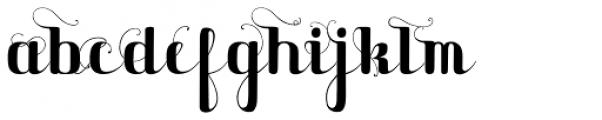 Maple Lane Cursive Fancy Font LOWERCASE