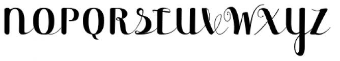 Maple Lane Cursive Upright Font UPPERCASE