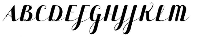 Maple Lane Cursive Font UPPERCASE