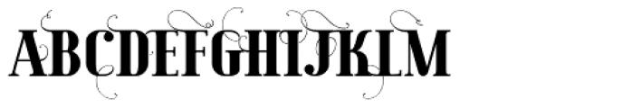 Maple Lane Fancy Font UPPERCASE