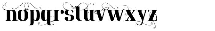 Maple Lane Fancy Font LOWERCASE