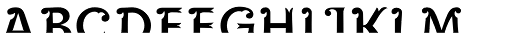 Maracay Half Font UPPERCASE