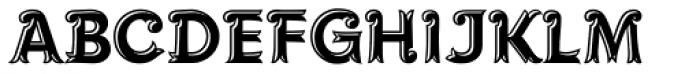 Maracay Tooled Font UPPERCASE