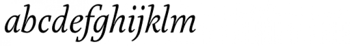 Marat Light Italic Font LOWERCASE