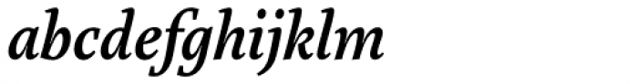 Marat Medium Italic Font LOWERCASE