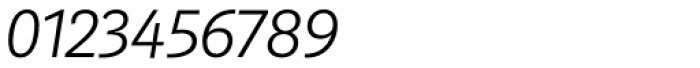 Marat Sans ExtraLight Italic Font OTHER CHARS