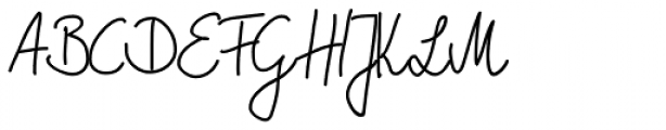 Marbo Handwriting Pro Font UPPERCASE