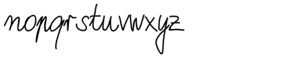 Marbo Handwriting Pro Font LOWERCASE