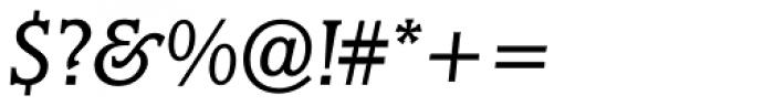 Marbrook BQ Book Italic Font OTHER CHARS