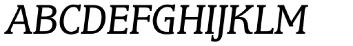 Marbrook BQ Book Italic Font UPPERCASE
