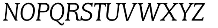 Marbrook BQ Light Italic Font UPPERCASE