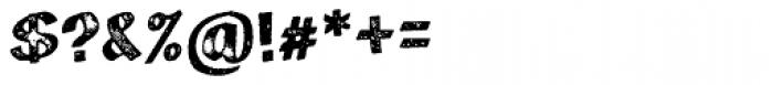 Marcel Letterpress Font OTHER CHARS