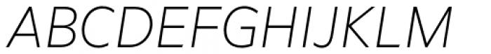 Marcher Extralight Italic Font UPPERCASE
