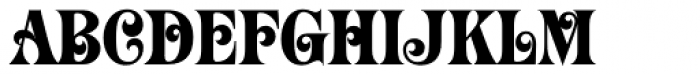 Mardi Gras Font UPPERCASE