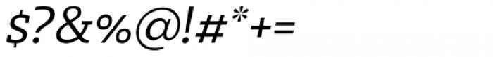 Marek Slab Light Italic Font OTHER CHARS