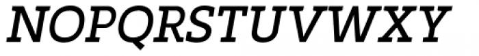 Marek Slab Regular Italic Font UPPERCASE