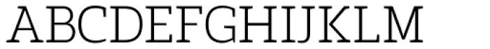 Marek Slab Thin Font UPPERCASE