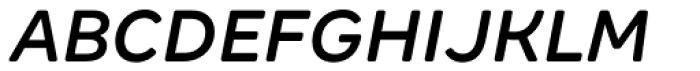 Margem Rounded Medium Italic Font UPPERCASE