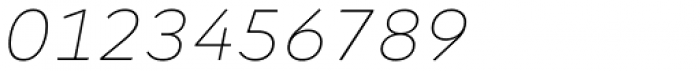 Margem Thin Italic Font OTHER CHARS