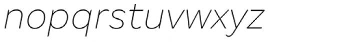 Margem Thin Italic Font LOWERCASE