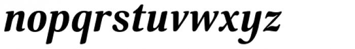 Margon 380 Bold Italic Font LOWERCASE