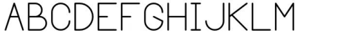 Margoth Light Font UPPERCASE
