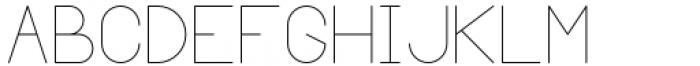 Margoth Thin Font UPPERCASE