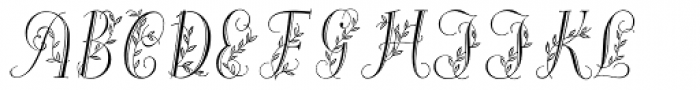 Maria-Balle-Initials Font LOWERCASE