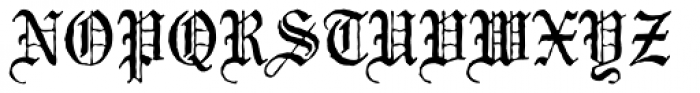 Mariage Antique D Font UPPERCASE