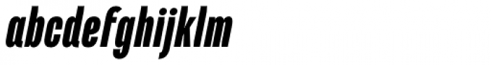 Marianina Cn FY Black Italic Font LOWERCASE