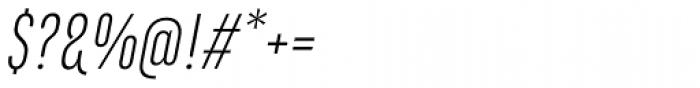 Marianina Cn FY Light Italic Font OTHER CHARS