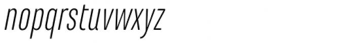 Marianina Cn FY Light Italic Font LOWERCASE