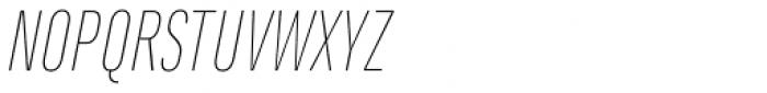 Marianina Cn FY Thin Italic Font UPPERCASE
