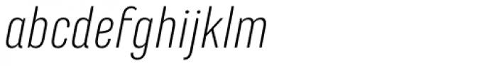 Marianina FY Light Italic Font LOWERCASE