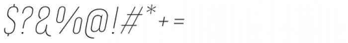 Marianina FY Thin Italic Font OTHER CHARS