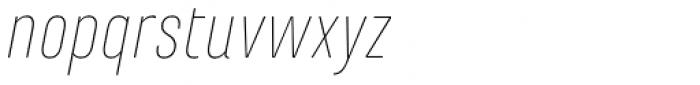 Marianina FY Thin Italic Font LOWERCASE