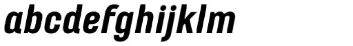 Marianina wide FY Black Italic Font LOWERCASE