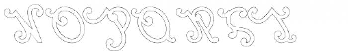Marie Lyn Outline Font UPPERCASE