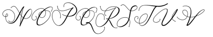 Mariosa Regular Font UPPERCASE
