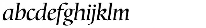 Mariposa Book Italic Font LOWERCASE