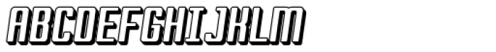 Marjoram 3 D Italic Font UPPERCASE