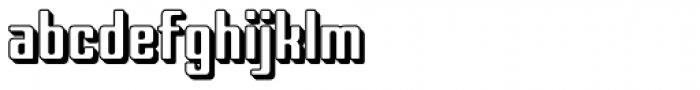 Marjoram 3 D Font LOWERCASE