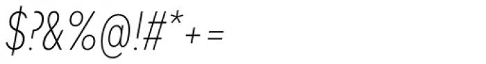 Mark Pro Cond Extlight Italic Font OTHER CHARS