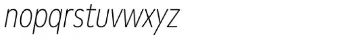 Mark Pro Cond Extlight Italic Font LOWERCASE