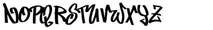Marker Min Fat Font UPPERCASE