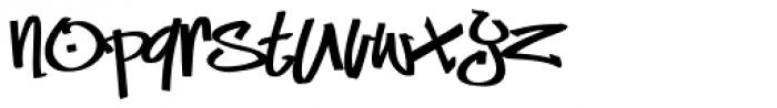 Marker Min Fat Font LOWERCASE