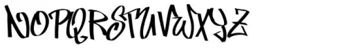 Marker Min Skinny Font UPPERCASE