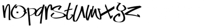 Marker Min Skinny Font LOWERCASE