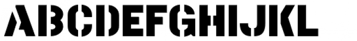 Marking Stencil JNL Font LOWERCASE